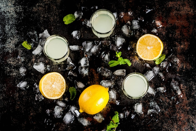 Traditionele italiaanse alcoholische zelfgemaakte drank