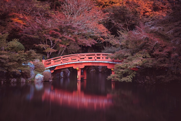 Traditionele japanse brug in kyoto