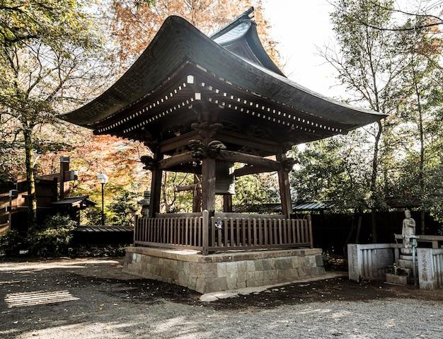 Traditionele japanse houten structuur
