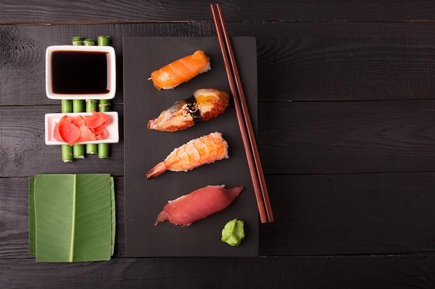 Traditionele japanse sushiachtergrond
