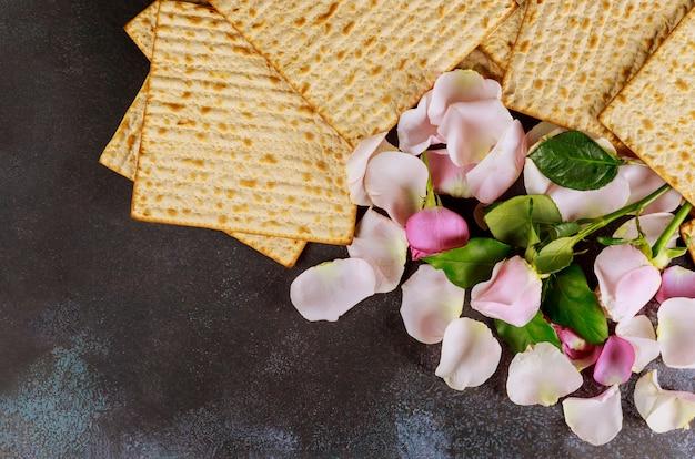 Traditionele joodse pesach-feestvakantie met matzo ongezuurd brood
