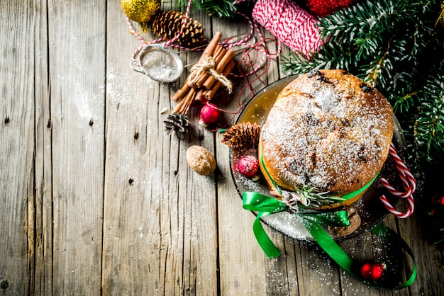Traditionele kerst panettone
