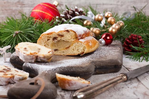 Traditionele kerst stollen
