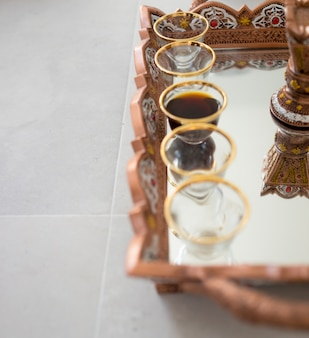 Traditionele koffie in dallah