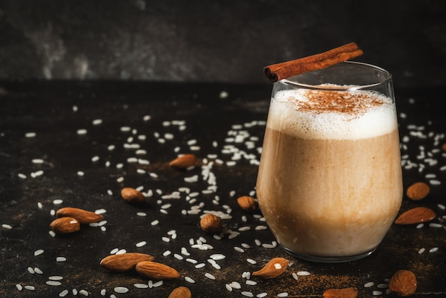 Traditionele mexicaanse drank horchata latte