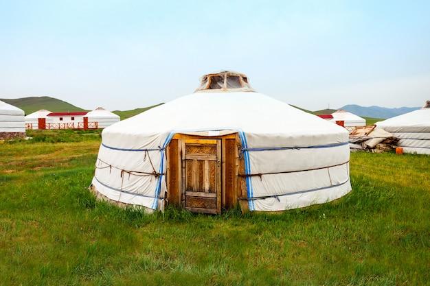 Traditionele mongoolse yurt in mongolië