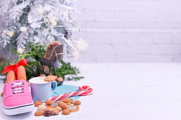 Traditionele nederlandse vakantie voor kinderen sinterklaas. wintervakantie in europa en nederland.