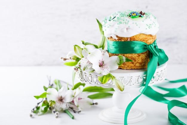 Traditionele pasen-cake. vakantie kulich