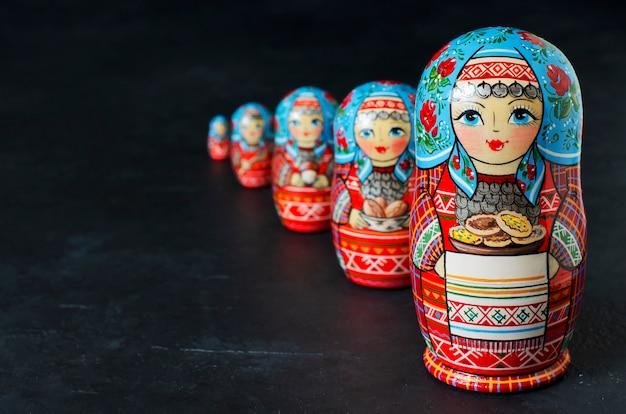 Traditionele russische speelgoed matryoshkas