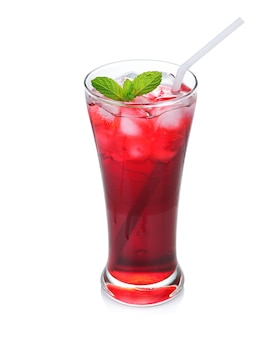 Traditionele thaise drank, iced roselle-sap.
