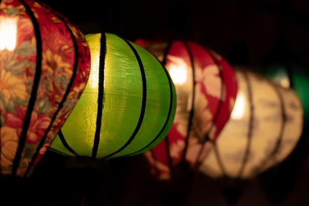 Traditionele vietnamese lantaarn in hoian vietnam.