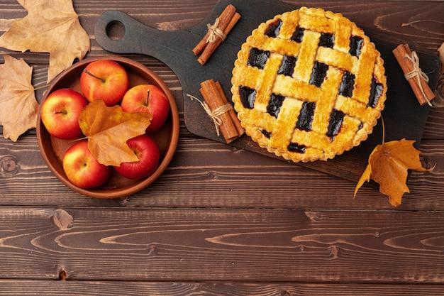 Traditionele zelfgemaakte taart voor thanksgiving