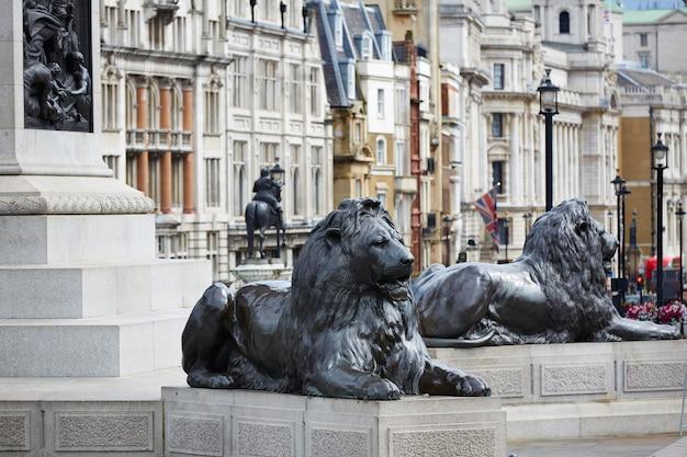 Trafalgar square in londen, verenigd koninkrijk