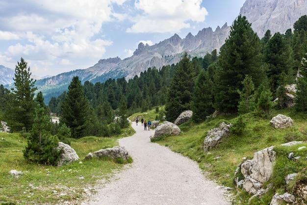 Trail in de dolomieten