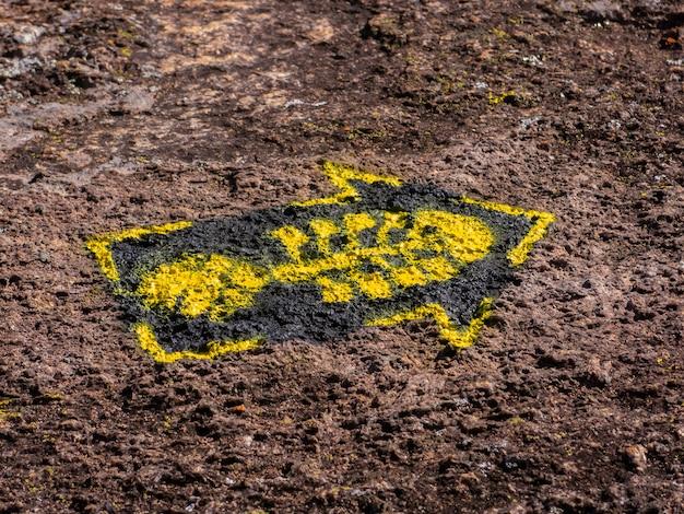 Trail marks in transmantiqueira lange trail hike - mantiqueira bereik brazilië