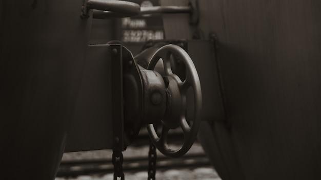 Train onderdelen met oude antieke toon
