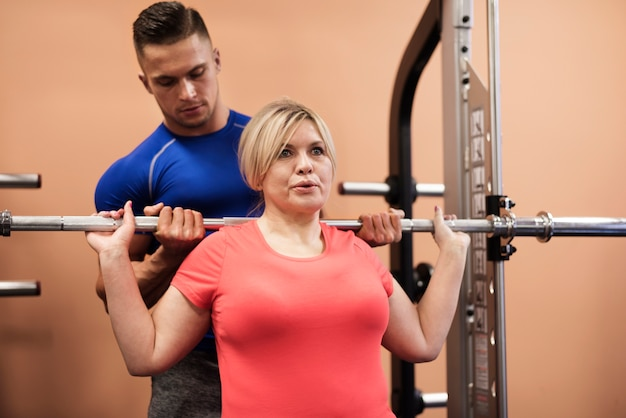 Trainen in de sportschool