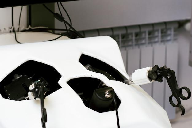 Trainingsapparatuur voor laparoscopie. laboratorium voor chirurgie