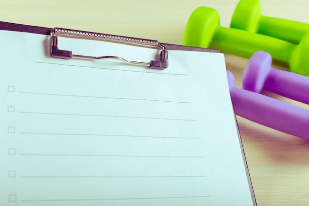 Trainingsplan en sportuitrusting