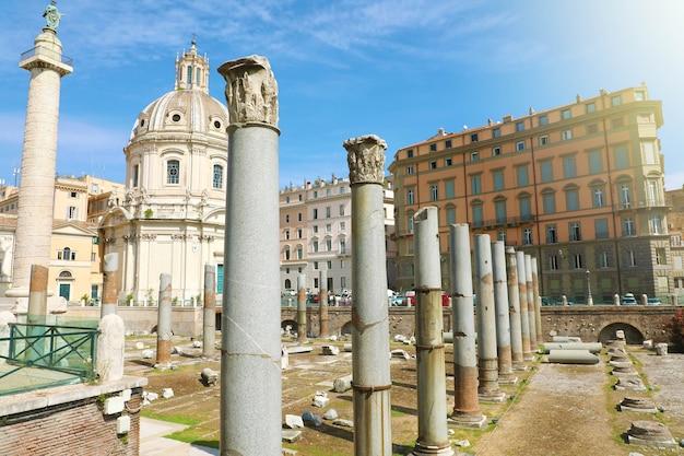 Trajanus forum in rome, italië