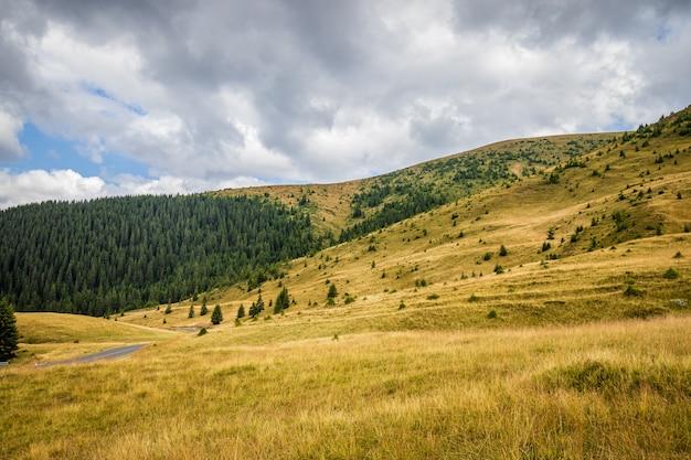 Transalpina road-weergave in de karpaten in roemenië