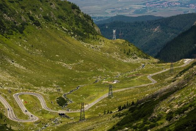 Transfagarasan bergweg, de roemeense karpaten