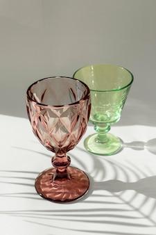 Transparante glazen schaduw