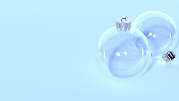 Transparante kerstbal voor kerstboomdecoratie