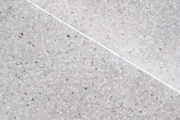 Trap terrazzo gepolijste stenen loopbrug en vloer