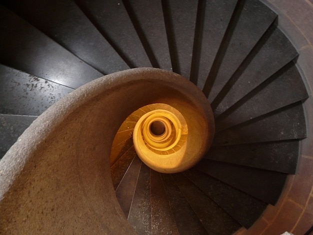 Trap trap opkomst spiraal geleidelijk