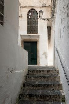 Trap van een gebouw, amalfi, amalfi coast, salerno, campania, italië