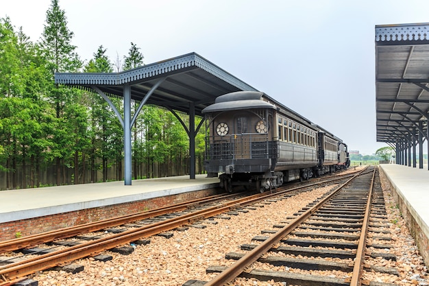 Trein en spoorweg