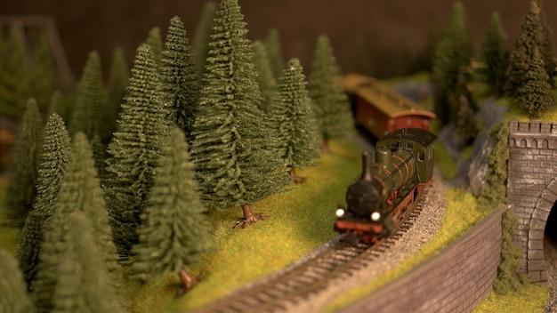 Trein locomotief model.