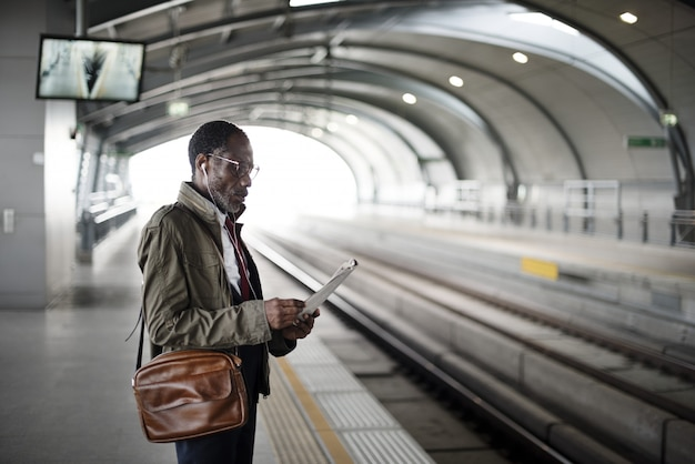 Trein transit commuter vervoer stedelijke concept