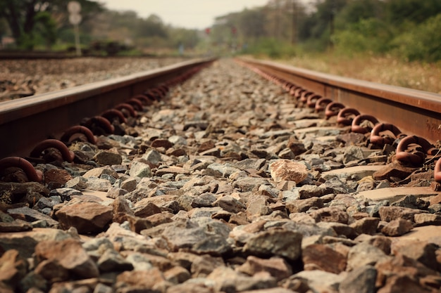 Treinstation en spoorweg