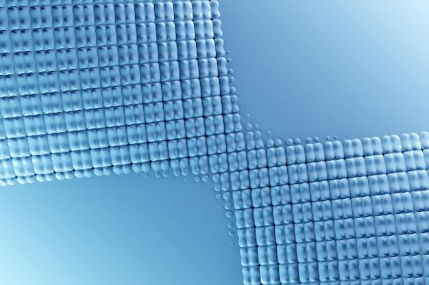 Trendy achtergrond in felle neonkleuren illustratie van een neon blauwe blokjes