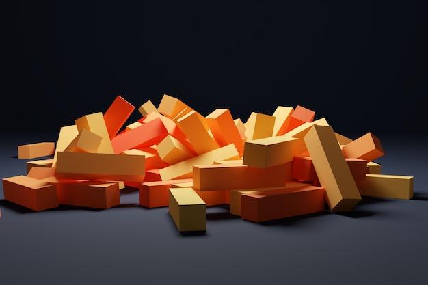 Trendy achtergrond in heldere oranje kleuren d illustratie van oranje strepen