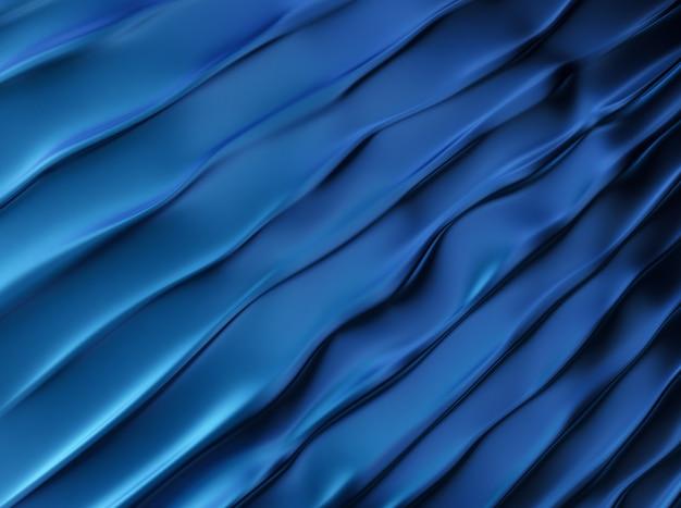 Trendy blauwe glanzende metalen achtergrond met golven
