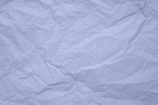 Trendy papiertextuur verfrommeld papier in lichtblauwe kleur