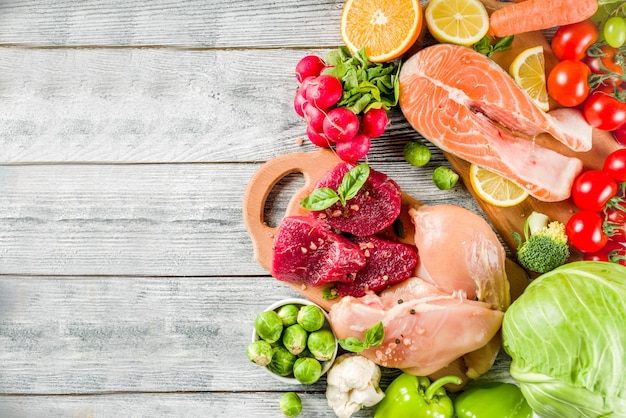 Trendy pegan dieet voedselingrediënten