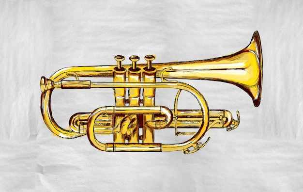Trompet schilderij afbeelding