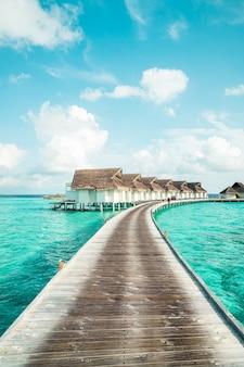 Tropisch resort in de maldiven