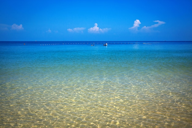 Tropisch strand, andamanzee, krabi, thailand.