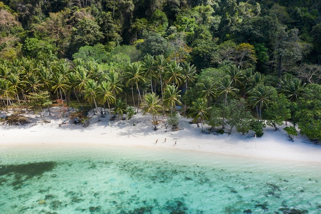 Tropisch strand in el nido, palawan, filipijnen