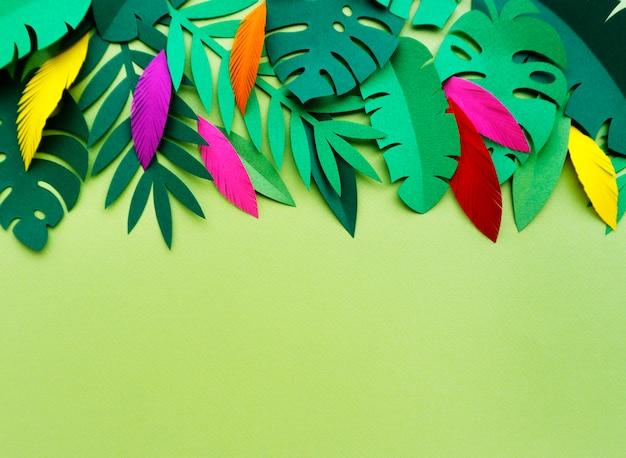 Tropische handgemaakt papercraft natuur bloemblaadjes