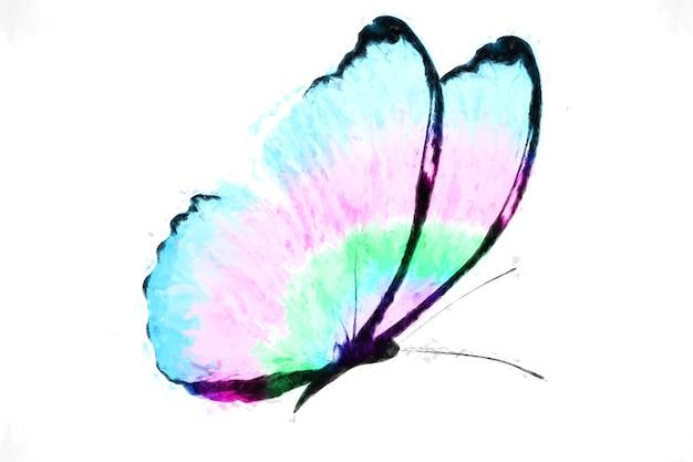 Tropische kleurrijke vlinder geïsoleerd op witte achtergrond
