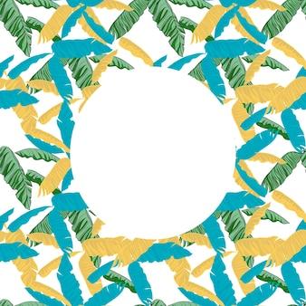 Tropische monstera laat naadloos patroon achter