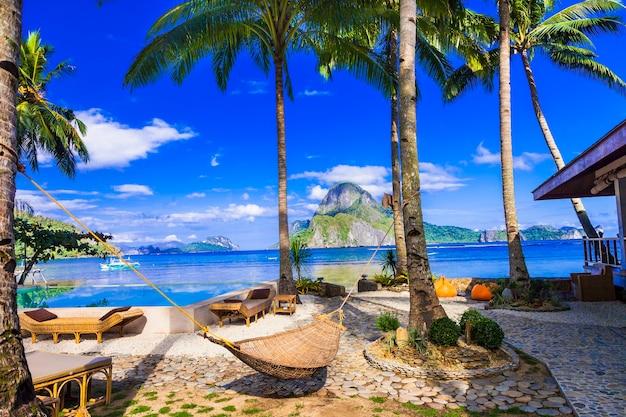 Tropische paradijsaard en exotische wilde schoonheid van het eiland palawan magical el nido philippiness