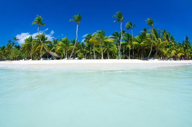 Tropische zee en blauwe lucht