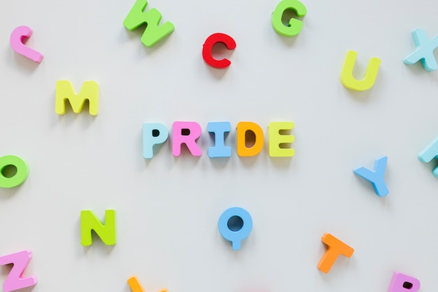 Trots opschrift van kleine letters